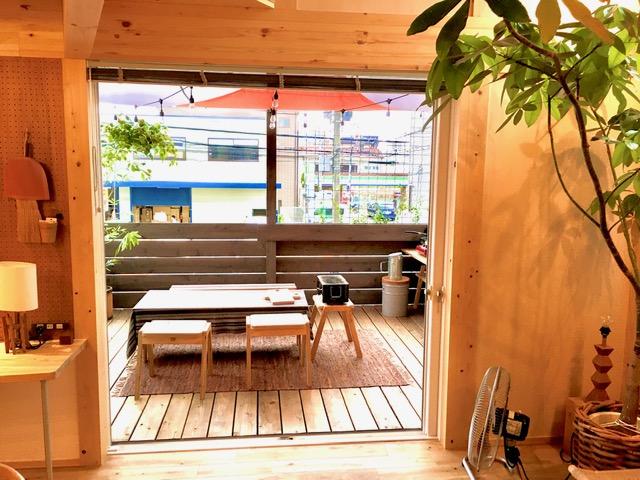 木の家〜田中工務店〜 アウトドアリビング(モデルハウスの2Fウッドデッキ)について🏡♪