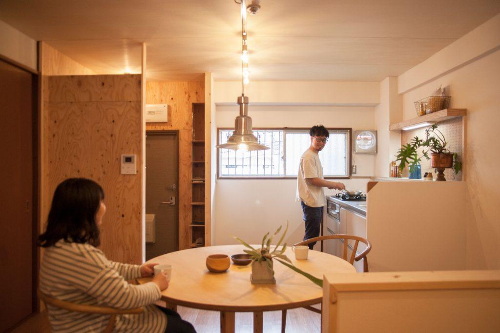 賃貸マンションリノベーション・ダイニングキッチン
